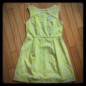 Bonpoint Girls Size 10 Yellow Green NEW Dress